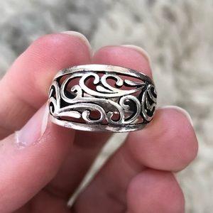 Premier Designs Sterling Silver Swirl Ring